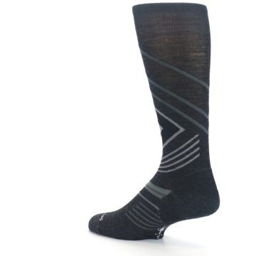 Image of Charcoal Heather High Crest Wool Men's Casual Socks (side-2-back-14)