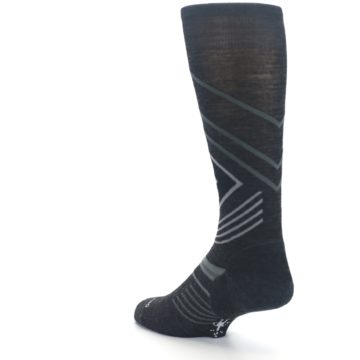 Image of Charcoal Heather High Crest Wool Men's Casual Socks (side-2-back-15)