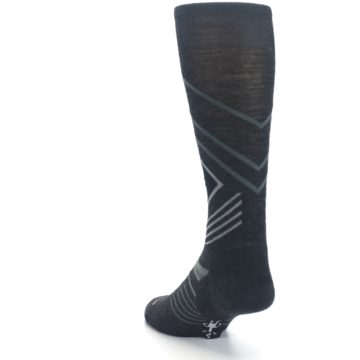 Image of Charcoal Heather High Crest Wool Men's Casual Socks (side-2-back-16)