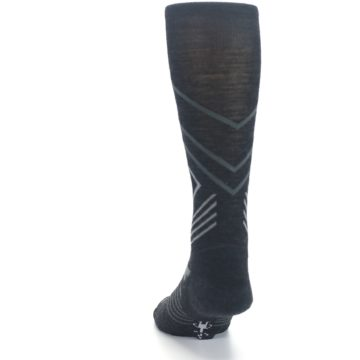 Image of Charcoal Heather High Crest Wool Men's Casual Socks (back-17)