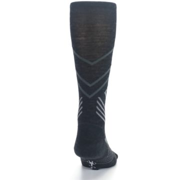 Image of Charcoal Heather High Crest Wool Men's Casual Socks (back-19)
