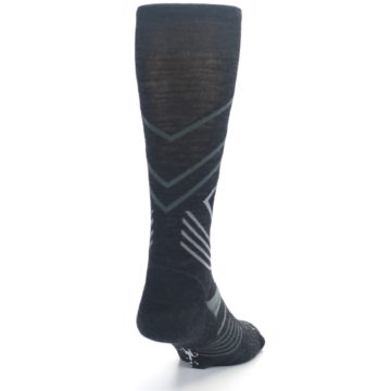 Image of Charcoal Heather High Crest Wool Men's Casual Socks (side-1-back-20)