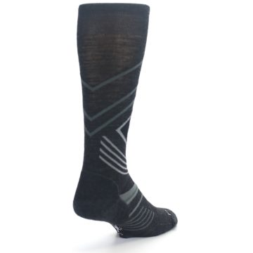 Image of Charcoal Heather High Crest Wool Men's Casual Socks (side-1-back-21)