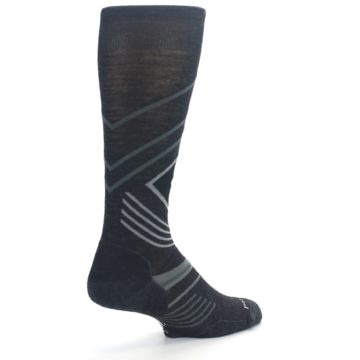 Image of Charcoal Heather High Crest Wool Men's Casual Socks (side-1-back-22)