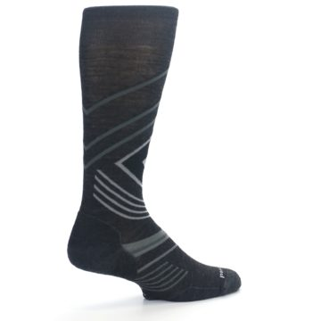 Image of Charcoal Heather High Crest Wool Men's Casual Socks (side-1-23)