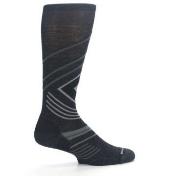 Image of Charcoal Heather High Crest Wool Men's Casual Socks (side-1-24)
