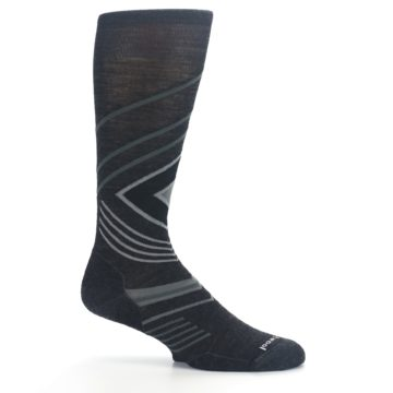 Image of Charcoal Heather High Crest Wool Men's Casual Socks (side-1-25)