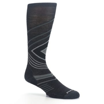 Image of Charcoal Heather High Crest Wool Men's Casual Socks (side-1-26)