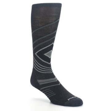 Image of Charcoal Heather High Crest Wool Men's Casual Socks (side-1-27)