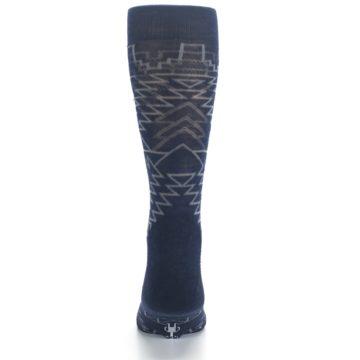 Image of Navy Gray Ruiz Wool Men's Casual Socks (back-18)