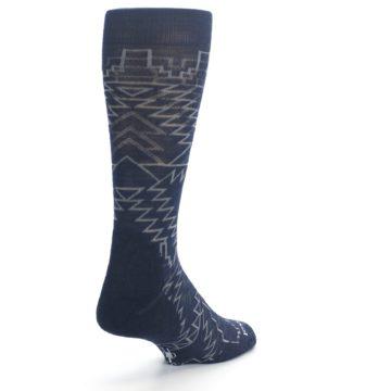 Image of Navy Gray Ruiz Wool Men's Casual Socks (side-1-back-21)