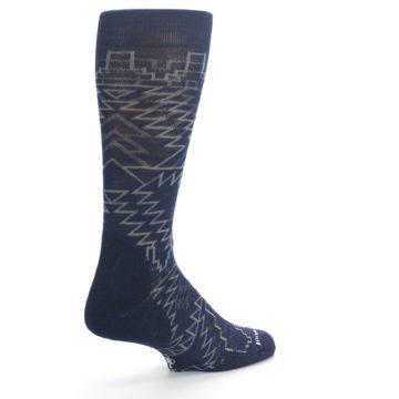 Image of Navy Gray Ruiz Wool Men's Casual Socks (side-1-back-22)