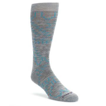 Gray-Teal-Ruiz-Wool-Mens-Casual-Socks-Smartwool