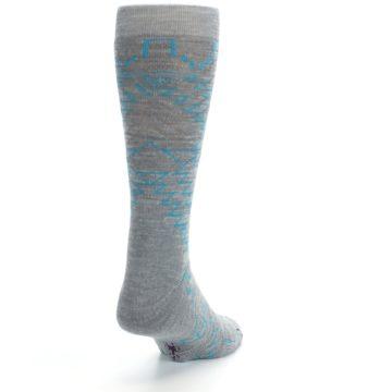 Image of Gray Teal Ruiz Wool Men's Casual Socks (side-1-back-20)