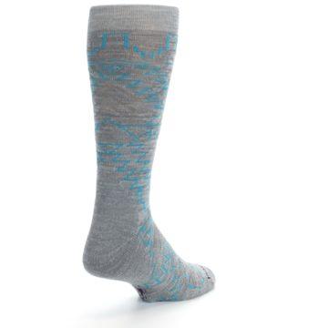 Image of Gray Teal Ruiz Wool Men's Casual Socks (side-1-back-21)