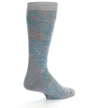 Image of Gray Teal Ruiz Wool Men's Casual Socks (side-1-back-22)