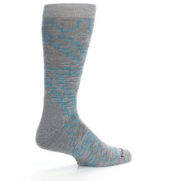 Image of Gray Teal Ruiz Wool Men's Casual Socks (side-1-23)
