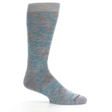 Image of Gray Teal Ruiz Wool Men's Casual Socks (side-1-25)