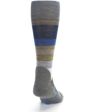 Image of Brown Gray Navy Saturnsphere Wool Men's Casual Socks (back-19)