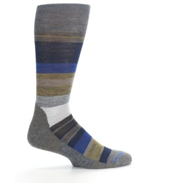 Image of Brown Gray Navy Saturnsphere Wool Men's Casual Socks (side-1-24)