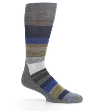 Image of Brown Gray Navy Saturnsphere Wool Men's Casual Socks (side-1-25)