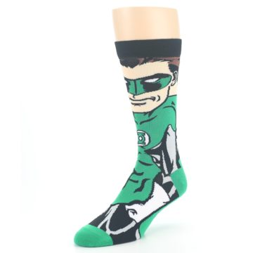Image of Green Lantern 360 Men's Casual Socks (side-2-front-08)
