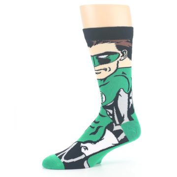 Image of Green Lantern 360 Men's Casual Socks (side-2-10)