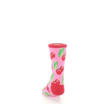 Image of Pink Red Cherries Kid's Dress Socks (back-17)