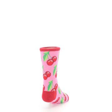 Image of Pink Red Cherries Kid's Dress Socks (side-1-back-20)