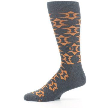 Image of Gray Orange Fights Malaria Men's Dress Socks (side-2-11)