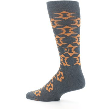 Image of Gray Orange Fights Malaria Men's Dress Socks (side-2-13)