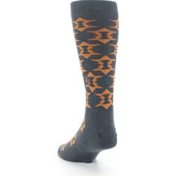Image of Gray Orange Fights Malaria Men's Dress Socks (side-2-back-16)
