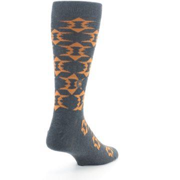Image of Gray Orange Fights Malaria Men's Dress Socks (side-1-back-21)
