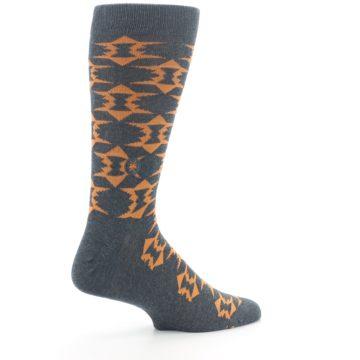 Image of Gray Orange Fights Malaria Men's Dress Socks (side-1-23)