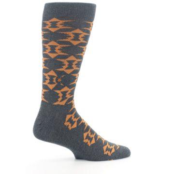 Image of Gray Orange Fights Malaria Men's Dress Socks (side-1-24)