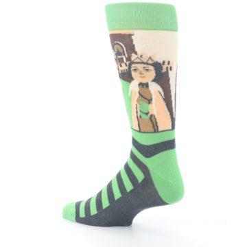 Image of Mister Rogers Neighborhood Socks – Green Men's Dress Socks (side-2-back-14)