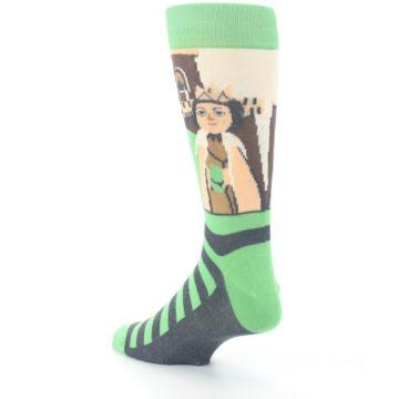 Image of Mister Rogers Neighborhood Socks – Green Men's Dress Socks (side-2-back-15)