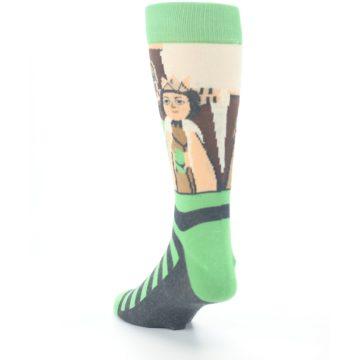 Image of Mister Rogers Neighborhood Socks – Green Men's Dress Socks (side-2-back-16)