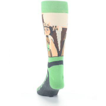 Image of Mister Rogers Neighborhood Socks – Green Men's Dress Socks (back-17)
