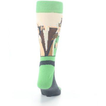 Image of Mister Rogers Neighborhood Socks – Green Men's Dress Socks (back-19)