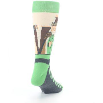 Image of Mister Rogers Neighborhood Socks – Green Men's Dress Socks (side-1-back-20)