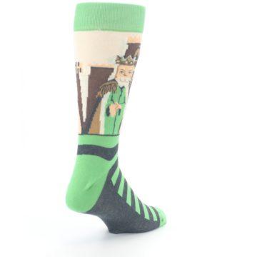 Image of Mister Rogers Neighborhood Socks – Green Men's Dress Socks (side-1-back-21)