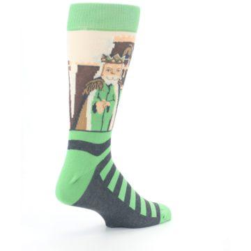 Image of Mister Rogers Neighborhood Socks – Green Men's Dress Socks (side-1-back-22)