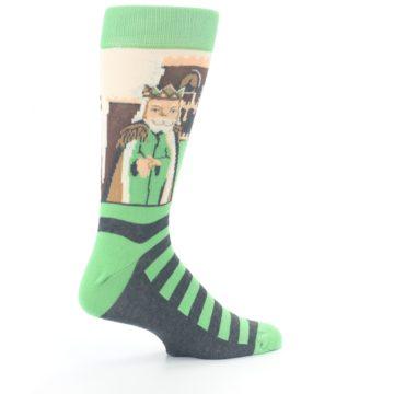 Image of Mister Rogers Neighborhood Socks – Green Men's Dress Socks (side-1-23)