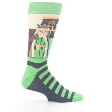 Image of Mister Rogers Neighborhood Socks – Green Men's Dress Socks (side-1-24)