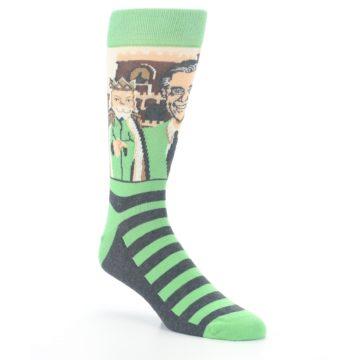 Image of Mister Rogers Neighborhood Socks – Green Men's Dress Socks (side-1-27)