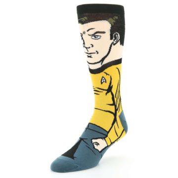 Image of Captain Kirk Star Trek 360 Men's Casual Socks (side-2-front-08)