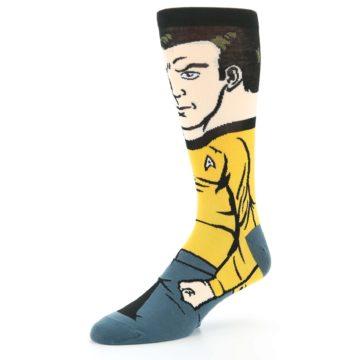 Image of Captain Kirk Star Trek 360 Men's Casual Socks (side-2-09)