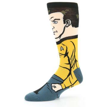 Image of Captain Kirk Star Trek 360 Men's Casual Socks (side-2-10)
