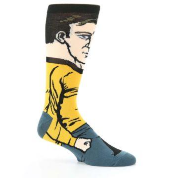 Image of Captain Kirk Star Trek 360 Men's Casual Socks (side-1-25)